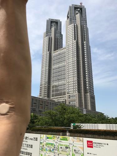 健康診断帰りに新宿高層ビル街と