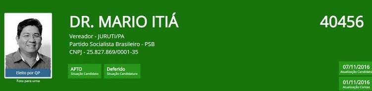 Primeiro secretário da Câmara de Vereadores de Juruti renuncia ao cargo, Itiá, vereador de Juruti