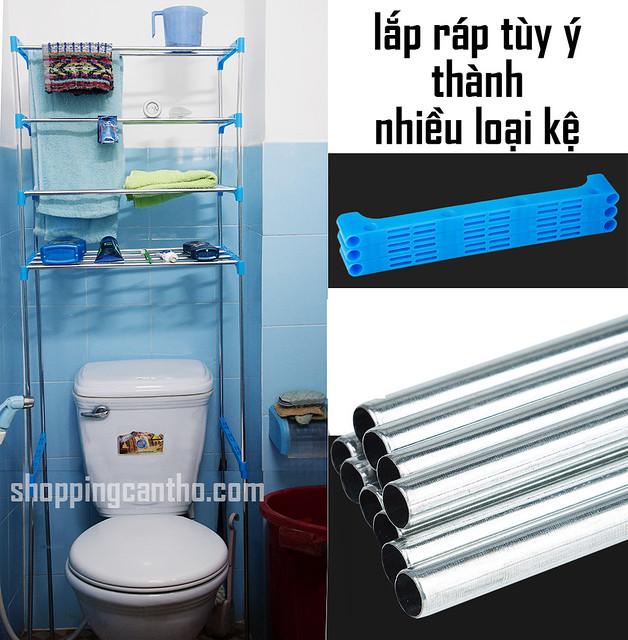 kệ nhà tắm nhà vệ sinh lắp ráp Cần Thơ