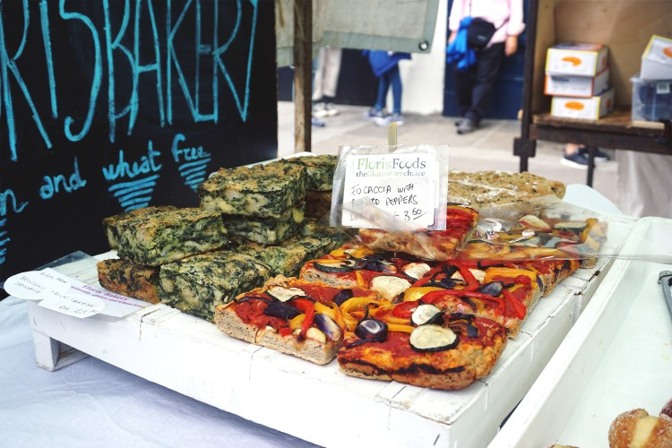 Gluten free focaccia from Floris Foods | Floris Bakery | gluten free Broadway Market guide | Hackney, London