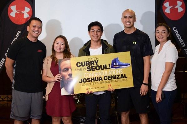 He wins a trip to Seoul, South Korea to see Steph Curry.