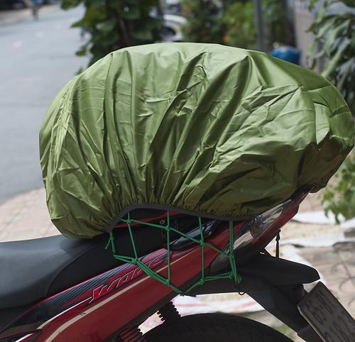Túi trùm balo đi mưa áo mưa ba lô 70L Cần Thơ