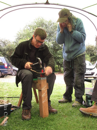 Learning to peen a scythe in Yorkshire