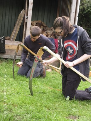Sharpening a scythe in Yorkshire