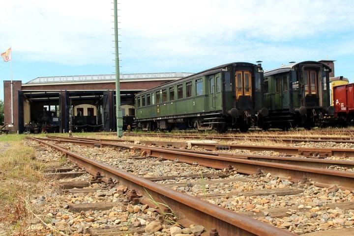 Oude treinen in Goes, Zeeland.