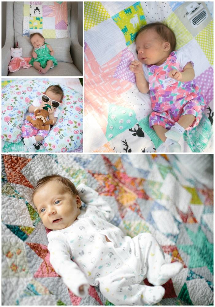 baby & her quilt