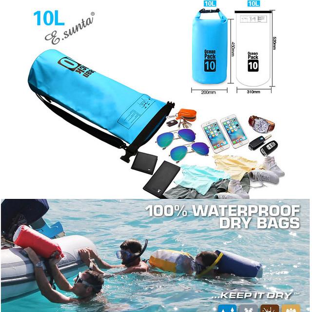 Túi phao 2 trong 1 - Túi khô đựng tư trang khi đi bơi 10L Cần Thơ
