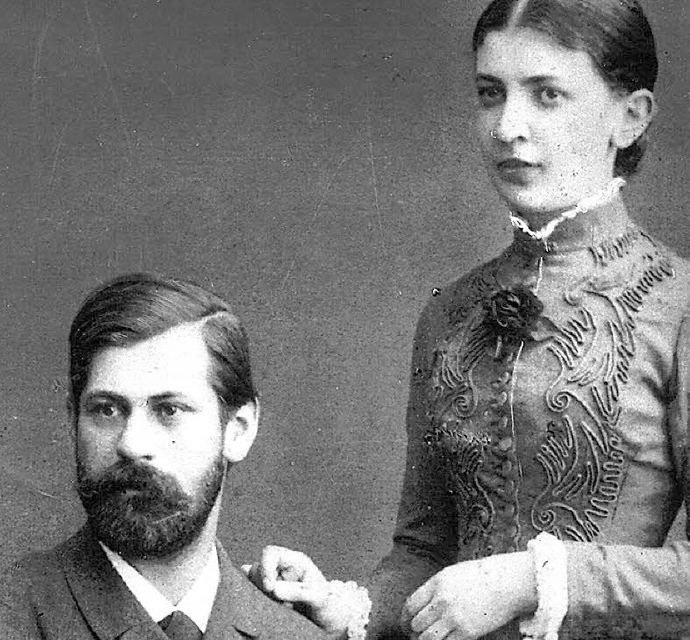 Sigmund Freud y Martha Bernays. | © Unknown.