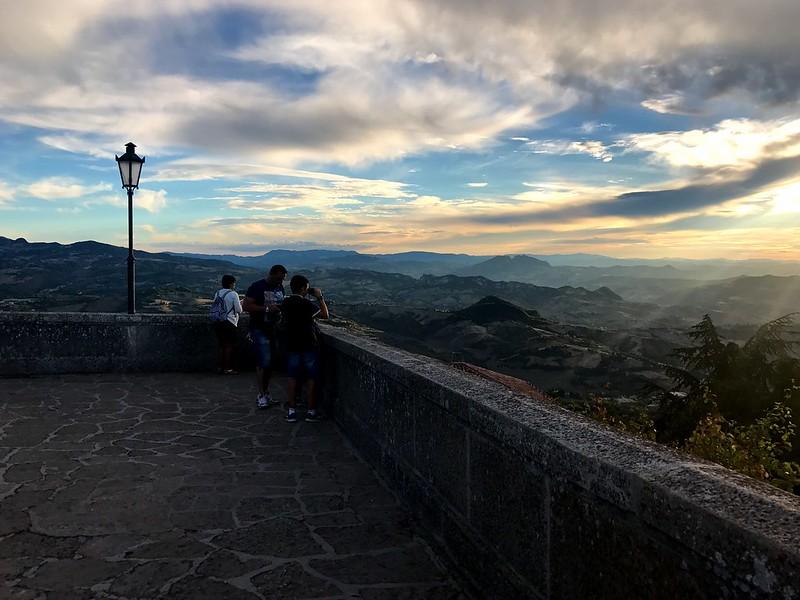 amazing sunset from one of San Marino's balconies
