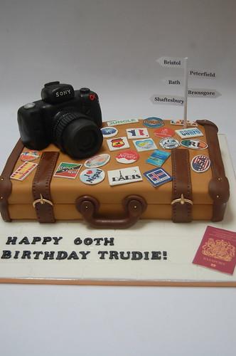 Suitcase And Camera Travel Cake Beautiful Birthday Cakes