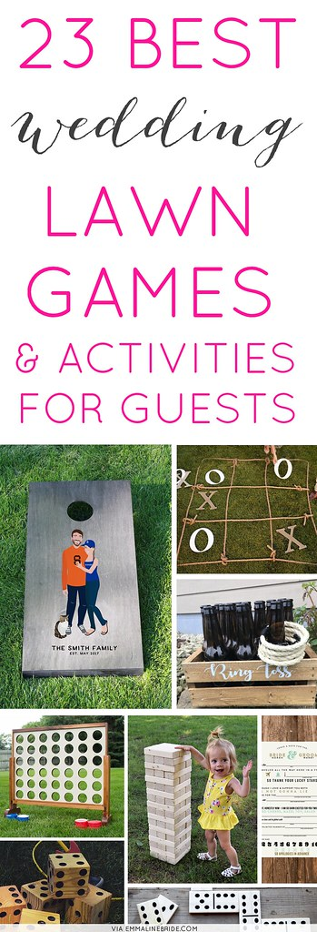 Best Wedding Lawn Games // via http://emmalinebride.com/reception/best-wedding-lawn-games/