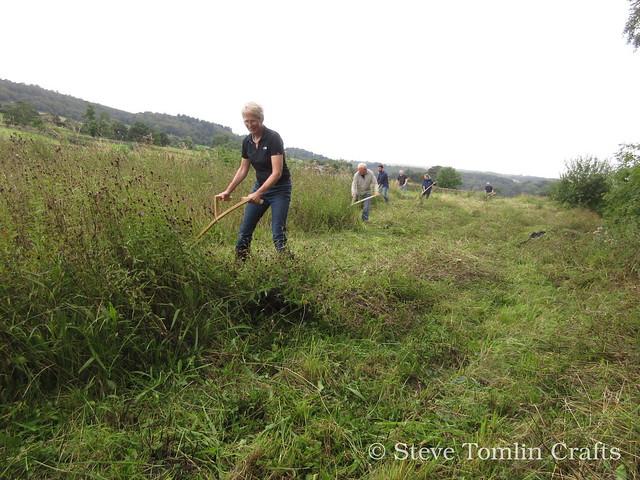 Scything a roadside wildflower meadow