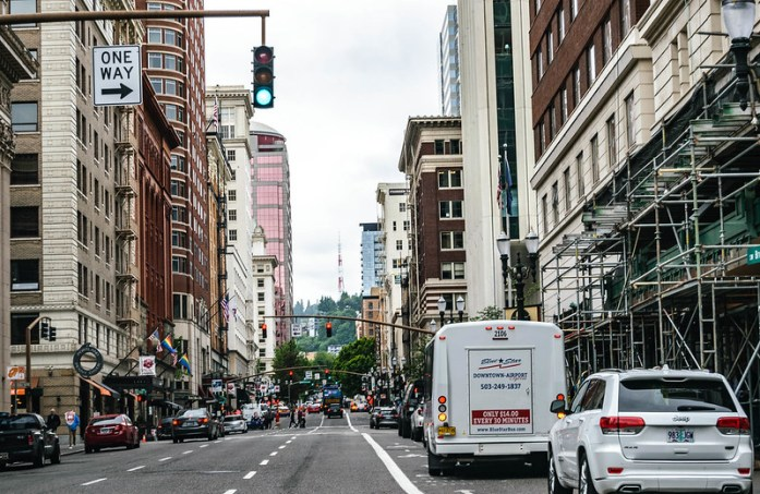 Portland, Oregon, en la costa Oeste de Estados Unidos - Downtown
