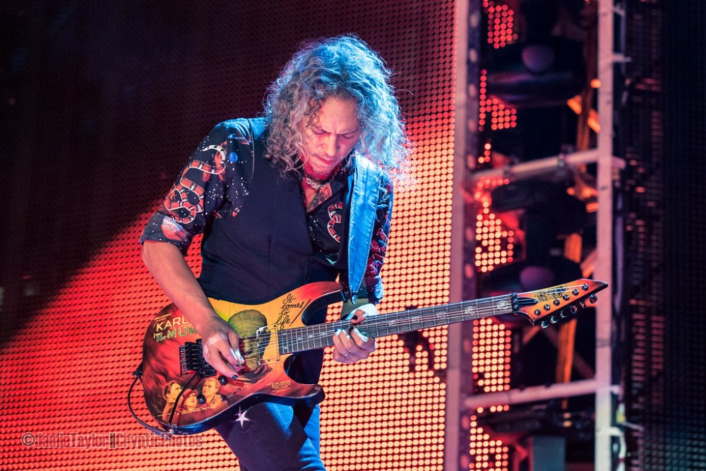 Kirk Hammett of Metallica at BC Place in vancouver, BC on August 14 2017