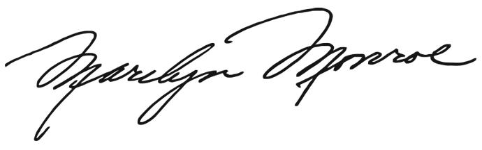Firma de Marilyn Monroe. Grafología