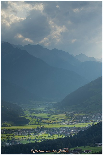 Uitzicht over de Kitzbüheler Alpen.