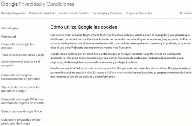 Uso De Las Cookies