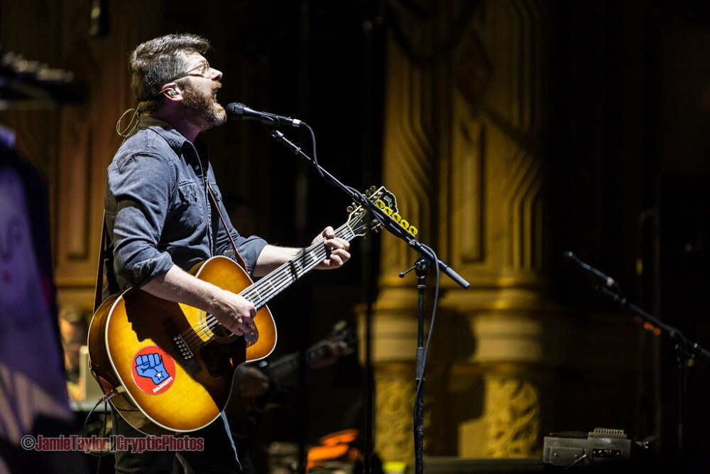 A passionate Colin Meloy of The Decemberists at Orpheum Theatre in vancouver, BC on August 8th 2017