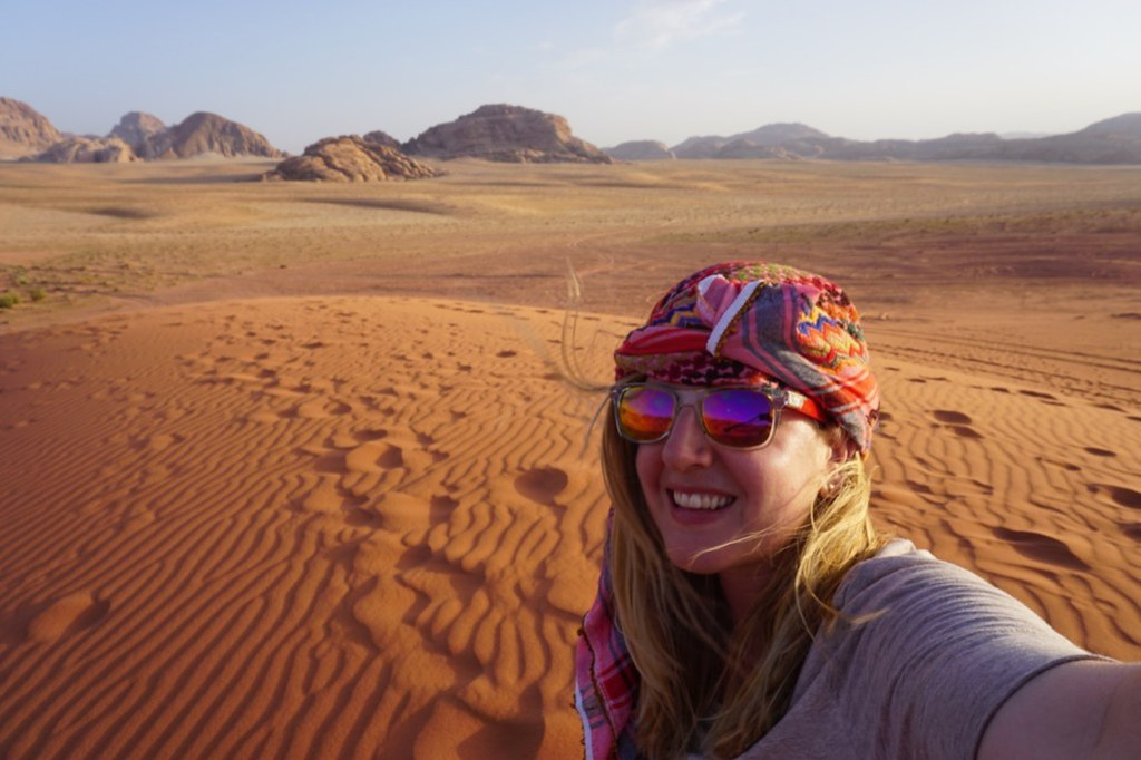 wadi rum selfie
