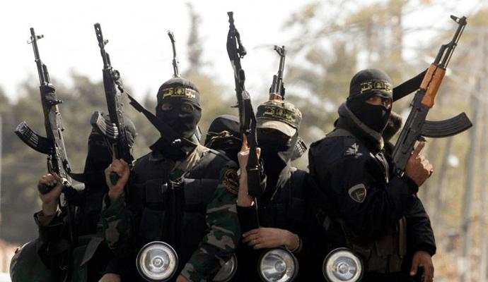 Militantes de Estado Islámico.