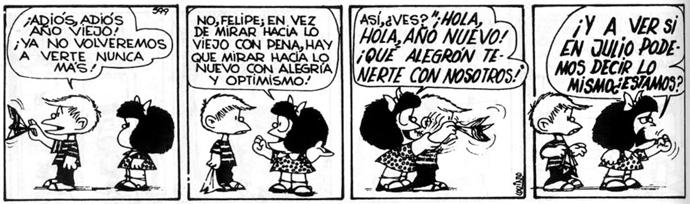 Mafalda y Felipe. © Quino.