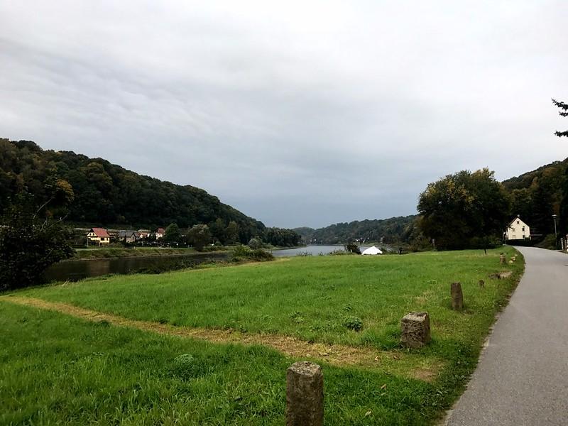 road to bastei bridge in saxon switzerland
