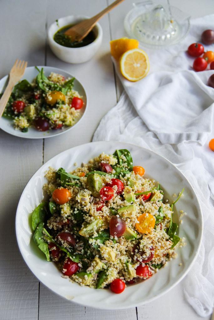 recette de Salade de quinoa légumes