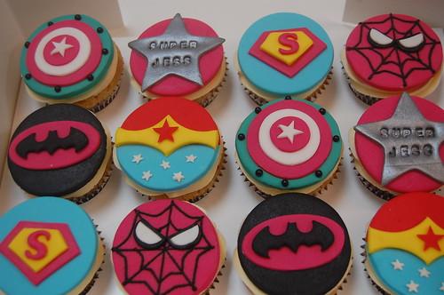 Super Girl Cupcakes Beautiful Birthday Cakes