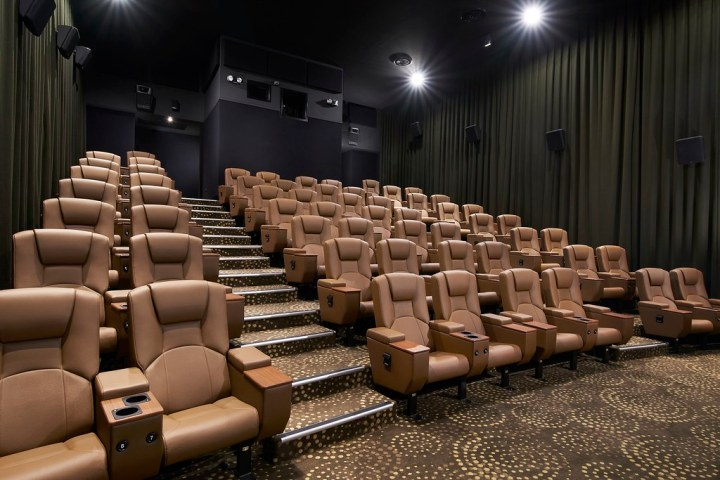 Duo Deluxe is a new seating concept featuring twin leatherette seats in an exclusive cinema. (Credit: Golden Village)