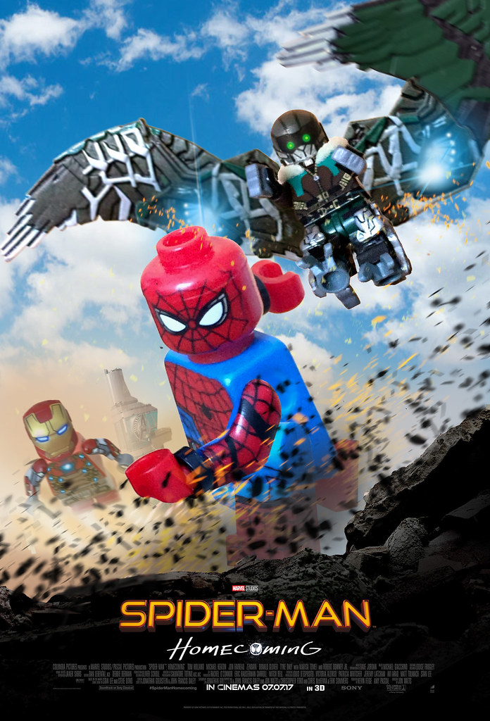 Lego Spider Man Homecoming Poster Biao Custom Flickr