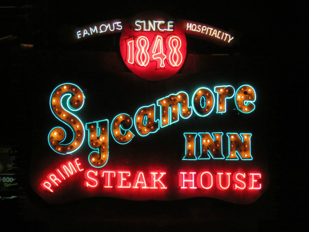 The Sycamore Inn - 8318 Foothill Boulevard, Rancho Cucamonga, California U.S.A. - November 11, 2015