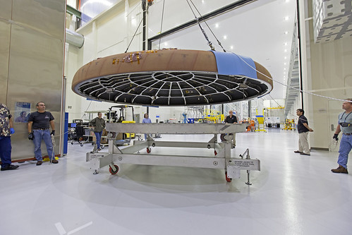 Orion Heat Shield Move   A crane attached to the Orion ...