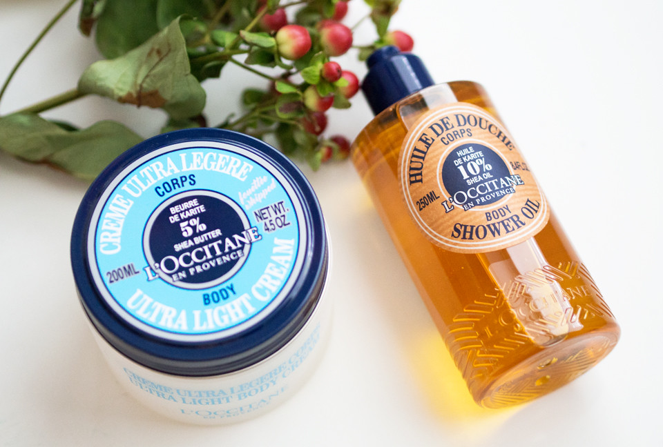 loccitane shea butter shower oil ultra-light body cream