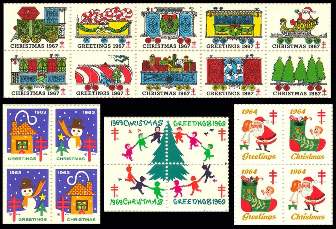 National Tuberculosis Association Christmas Seals - 1960's