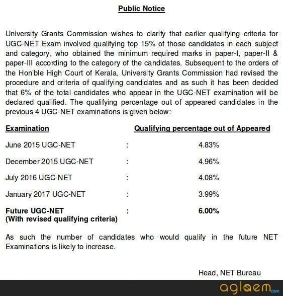 UGC NET Dec Result 2018