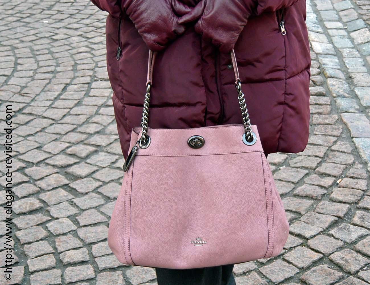 blush and burgundy