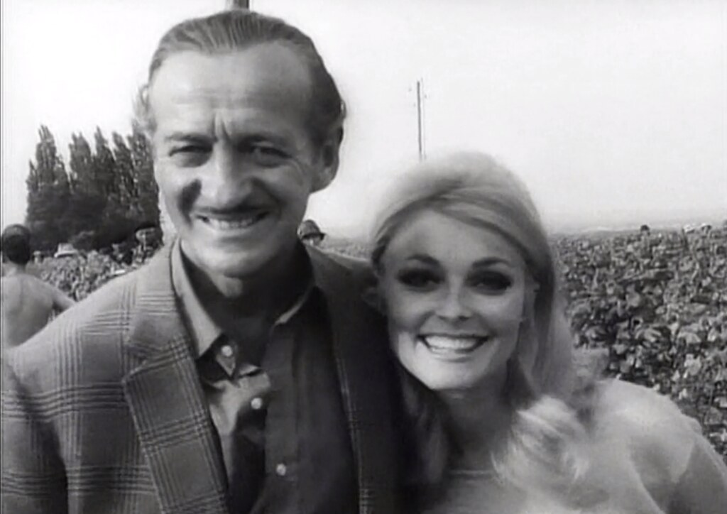 David Niven Sharon Tate While Filming Eye Of The Devil