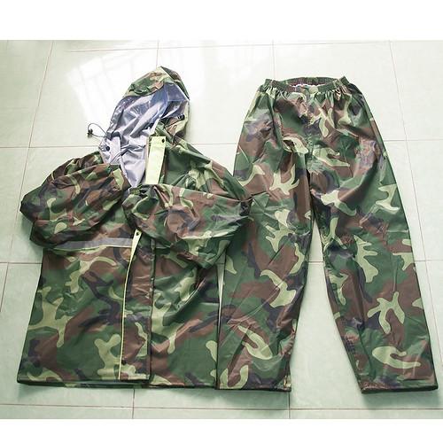 Áo mưa kiểu lính áo mưa quân đội rằn ri Cần Thơ