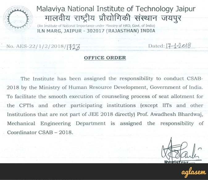 CSAB 2018: To be held for JEE Main 2018 Counselling – All Details