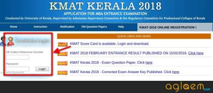 KMAT Kerala 2018 Score Card