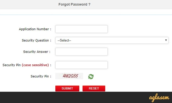 JEE Main 2018 Forgot Password Get By Security Question