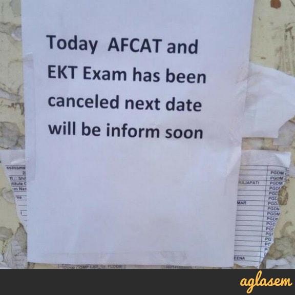 AFCAT 2018 Exam