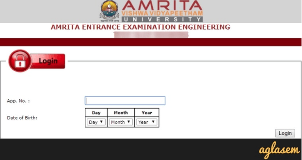 Amrita Admit Card 2019