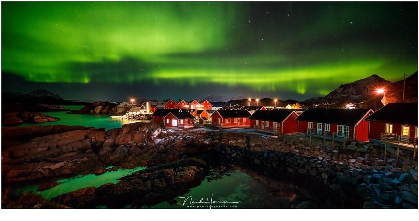 Het noorderlicht tijdens de fotoreis winter op lofoten