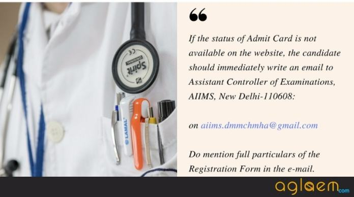 AIIMS PG 2018 July Admit Card