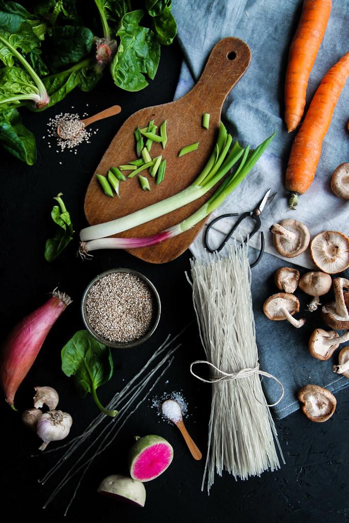 recette de nouilles sautées aux légumes