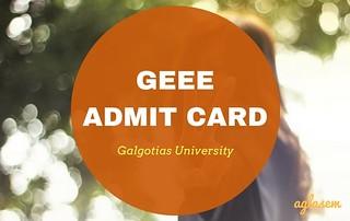GEEE 2018 Admit Card