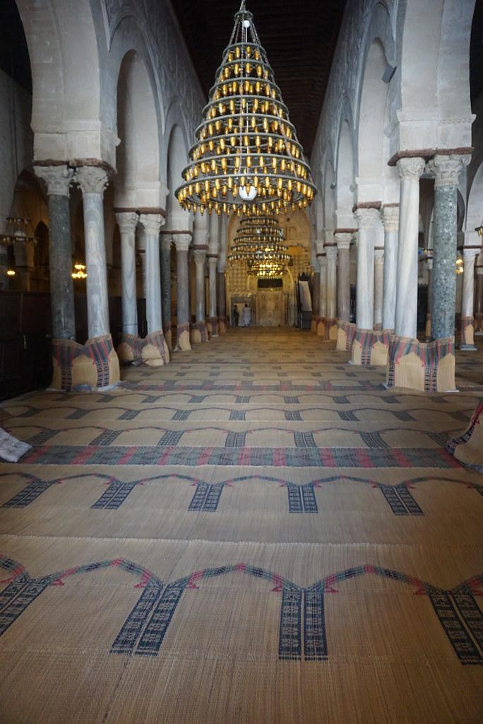 Kairouan great mosque prayer hall