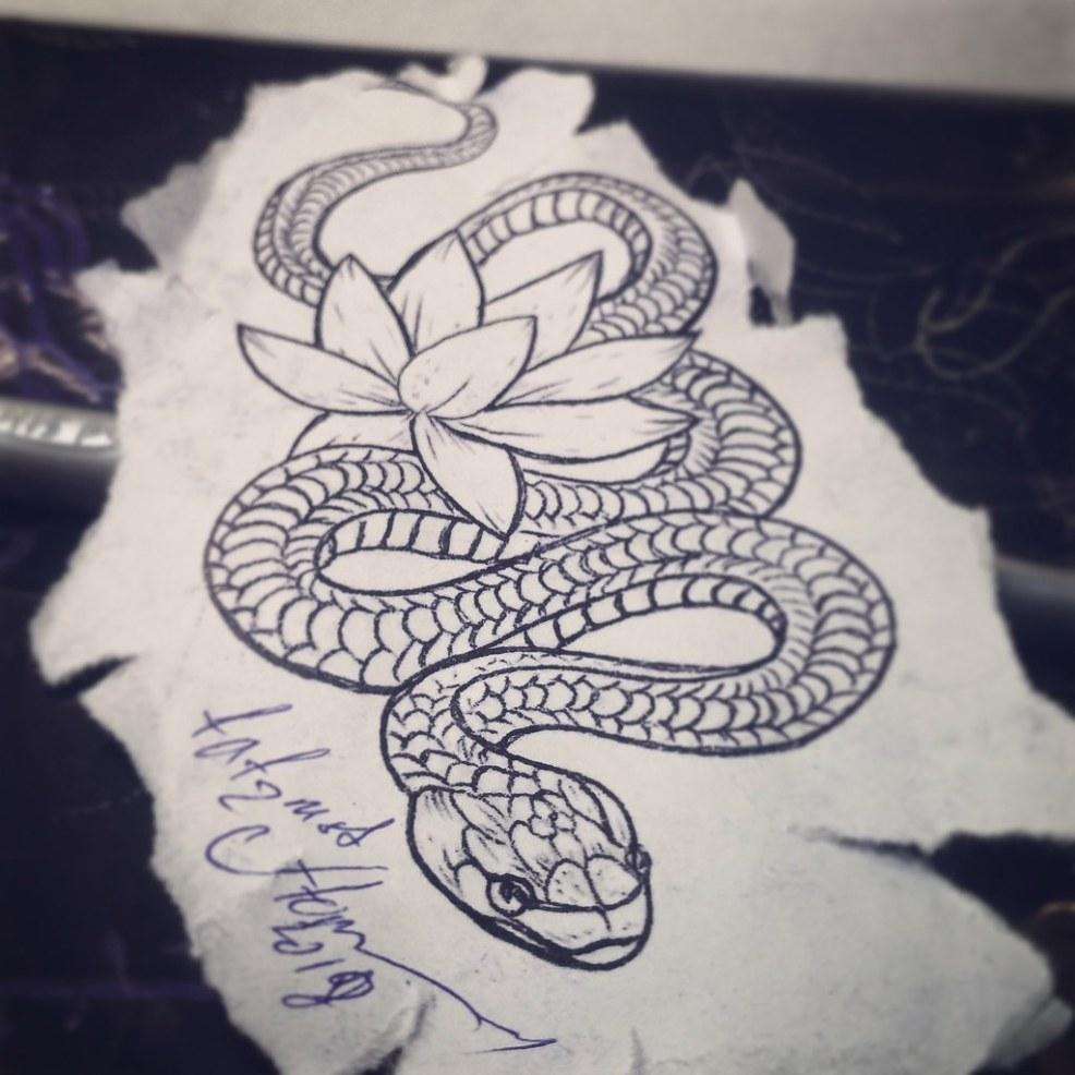 фото татуировки змея