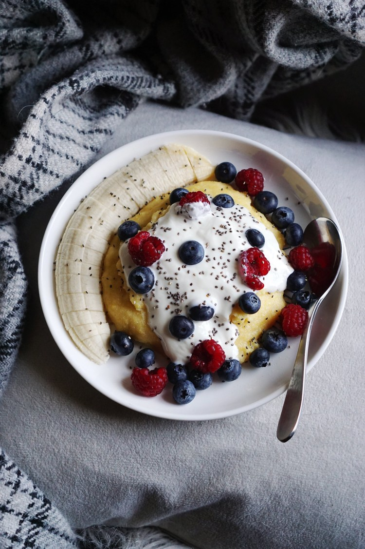 Gluten free polenta porridge | a naturally gluten free alternative to oatmeal